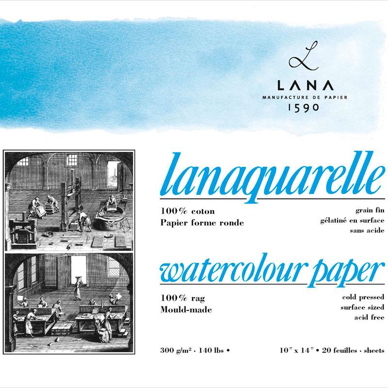 Купить Альбом-склейка для акварели Lana Lanaquarelle Fin, Франция