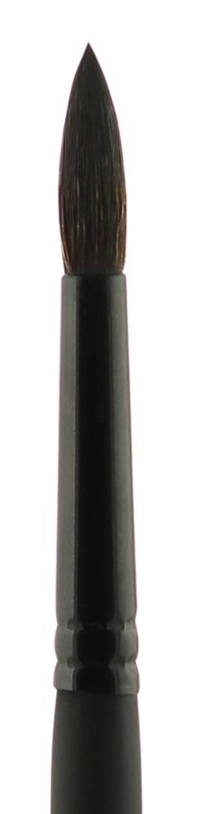 Купить Кисть синтетика №6 круглая Альбатрос Имитации белки короткая ручка, Россия
