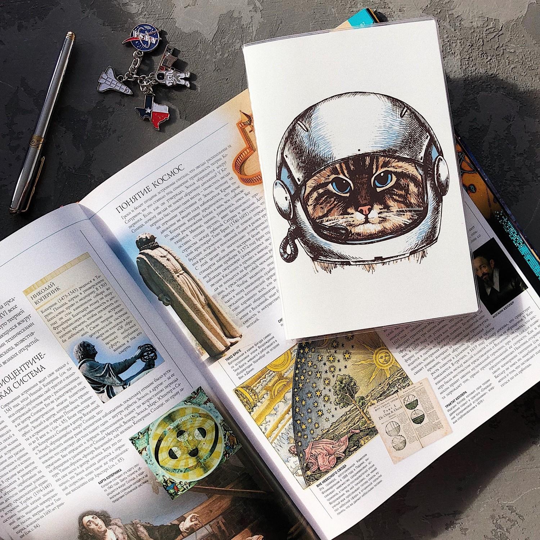 Купить Скетчбук lol&kek Handy cat astronaut 14х21 см 30 л 120 г, lol&kek, Россия