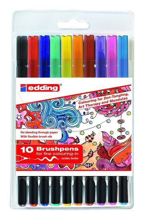 Купить Набор маркеров-кисточек Edding 1340 Zendoodle 10 шт, Германия