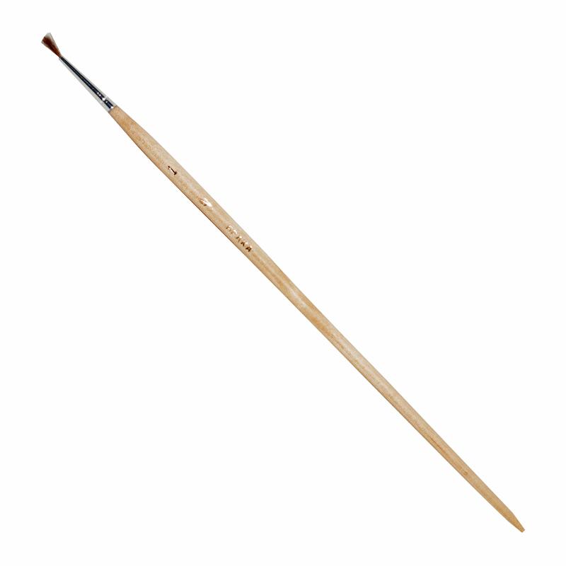Купить Кисть белка имитация №1 круглая ЦТИ длинная ручка, Россия