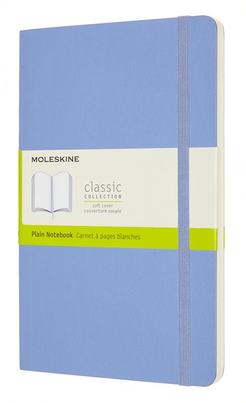 Записная книжка нелинованная Moleskine Classic Soft Large 13х21 см 192 стр. обложка мягкая голуба.