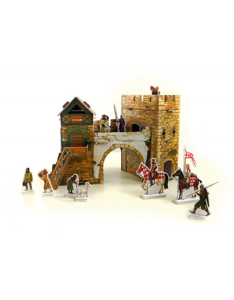 Купить Игровой набор из картона Средневековый город Старые ворота , Умная бумага, Россия