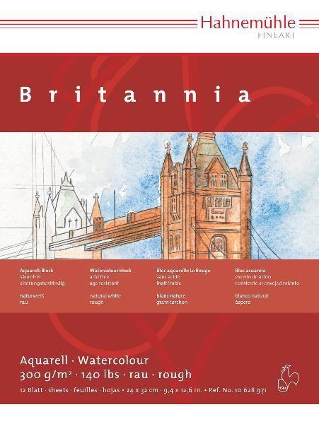 Купить Альбом-склейка для акварели Hahnemuhle Britannia 24x32 см 12 л 300 г, HAHNEMUHLE FINEART, Германия