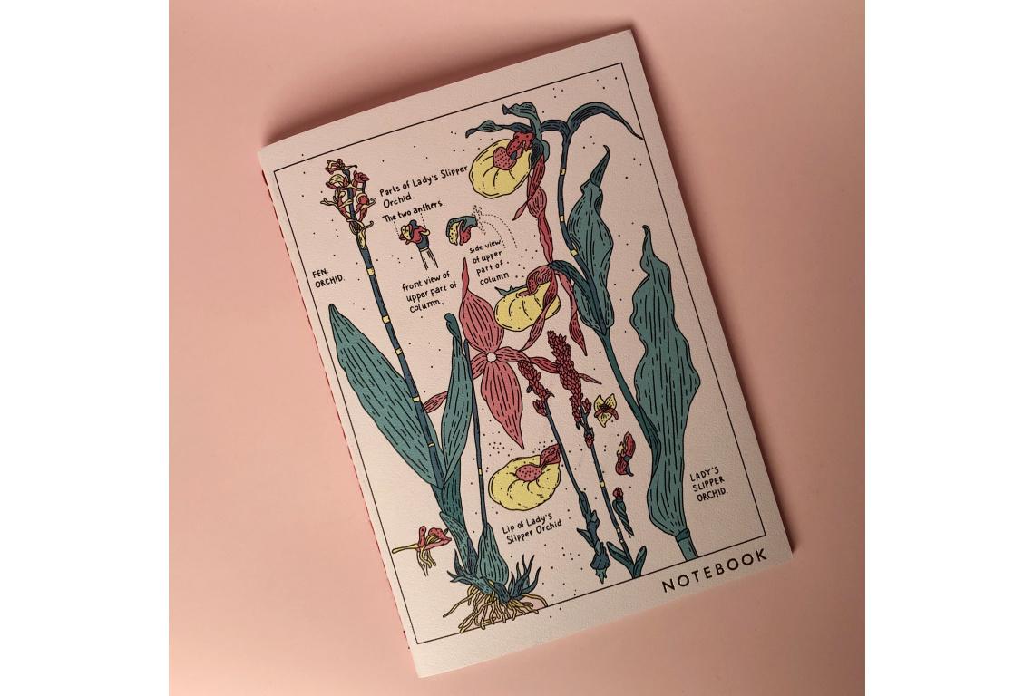 Тетрадь в клетку Orchid А5 24 л 90 г слоновая кость, сшивка, ламинация фото