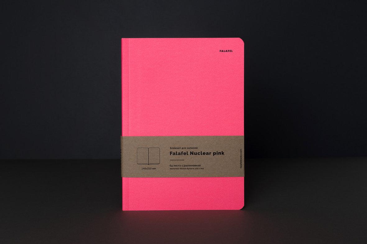 Купить Блокнот для записей FALAFEL BOOKS А5 Nuclear pink, Россия