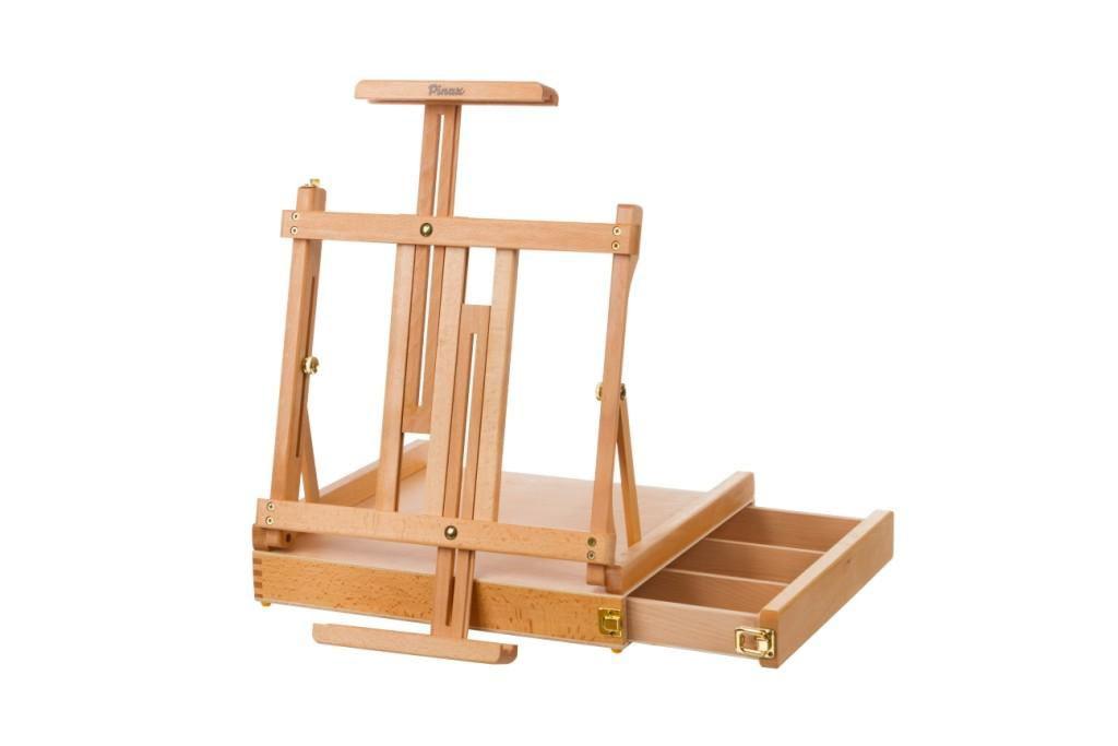 Купить Мольберт настольный Pinax TE-05B с ящиком для кистей и красок, большой, бук, Китай