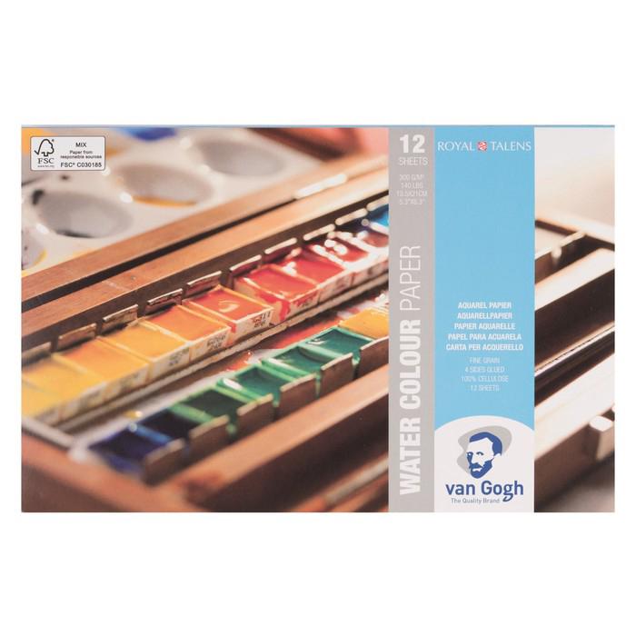 Купить Альбом-склейка для акварели Talens Van Gogh Fin 13, 5х21 см 12 л 300 г, Royal Talens