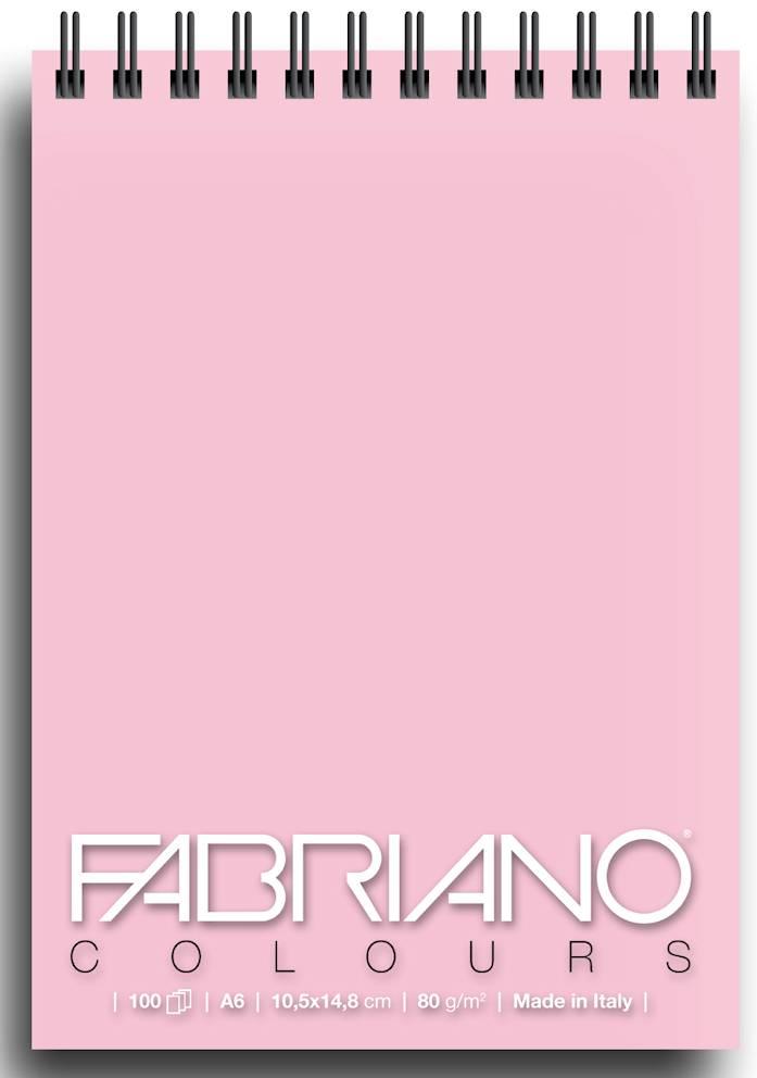 Альбом для графики на спирали Fabriano Writing Colors 105х148 см 100 л 80 г розовый.