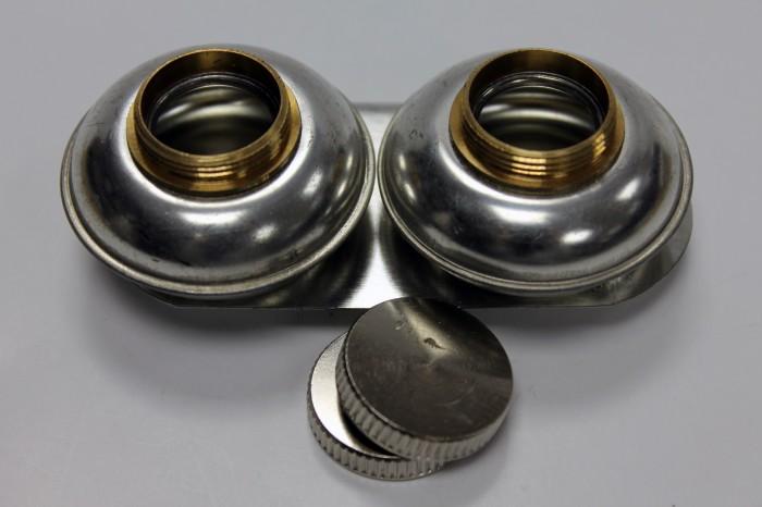 Купить Масленка двойная d-1, 7 см металлическая-пузатая, с крышкой, Китай