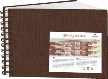 Купить Блокнот для эскизов Лилия Холдинг Travelling sketchbook А5 80 л 130 г Ландшафт шоколадный, Россия