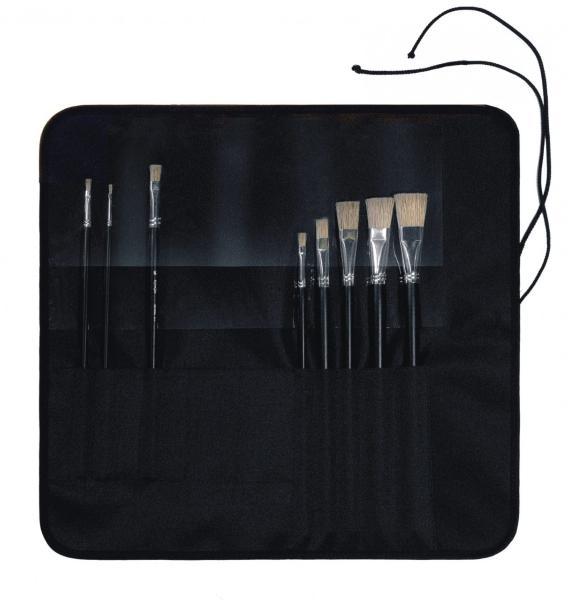 Пенал Альбатрос для кистей скатка из искусственной кожи 41*38 см Черный