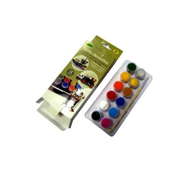 Купить Набор акрила Аква-Колор 12 цв*20 мл для росписи моделей глянец, Аква-колор, Россия