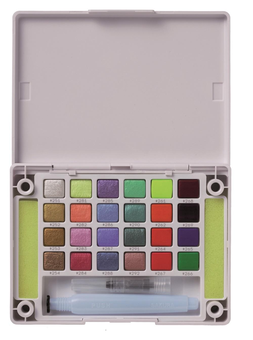Купить Набор акварельных красок Sakura Koi Creative Art Colours 24 цвета в пластиковой коробке, Япония