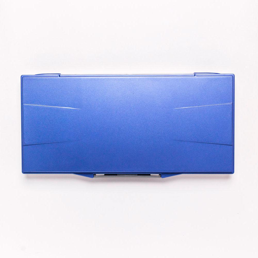 Палитра для акварели профессиональная герметичная Малевичъ, 23 ячейки, синяя, 15, 8х32 см, Китай  - купить со скидкой