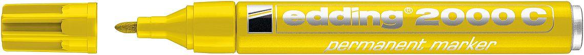 Маркер перманентный Edding 2000C 1, 5-3 мм с круглым наконечником, желтый, Германия  - купить со скидкой