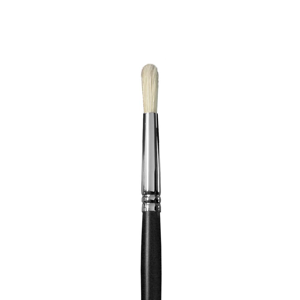 Купить Кисть щетина №5 круглая Альбатрос Профи длинная ручка черная, Россия