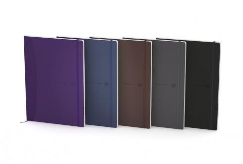 Купить Блокнот в клетку OXFORD Office Signature B5 80 л мягкая обложка ассорти, темные цвета, Франция