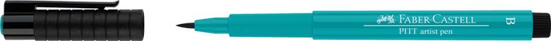 "Ручка капиллярная Faber-Castell ""Pitt artist pen"" B, зелёный кобальт"
