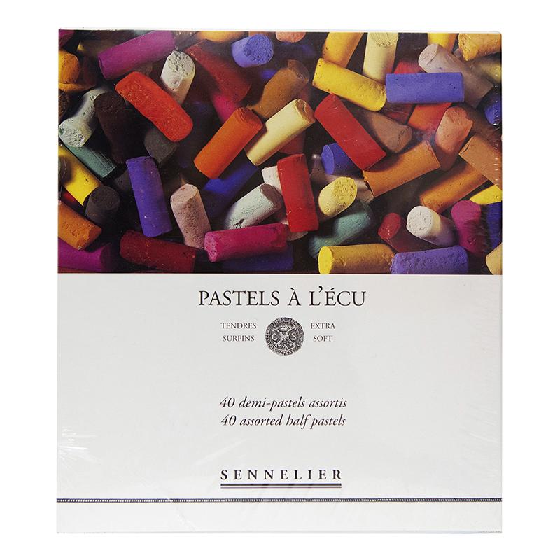 Купить Набор сухой пастели Sennelier A LECU 40 цв 1/2, в картонной коробке, Франция