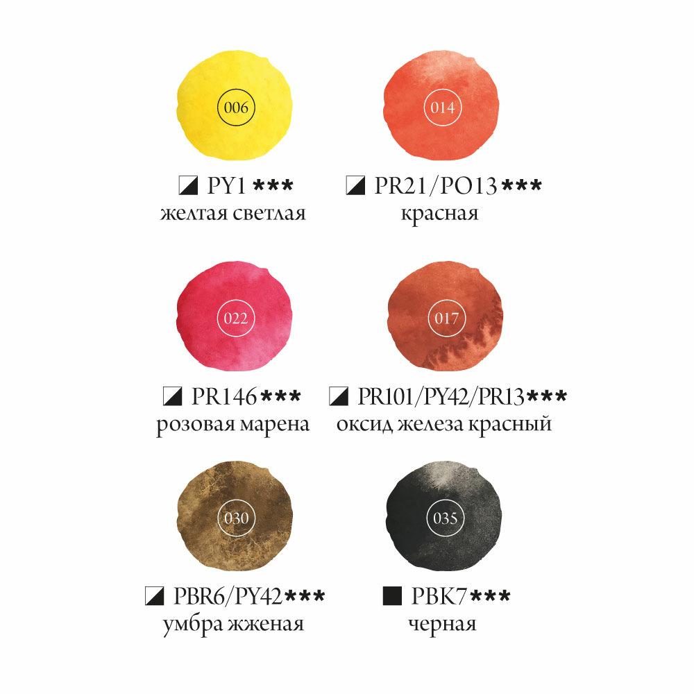 Купить Набор акварельных красок Малевичъ Frida Sunset 6 цв*12 мл, Россия