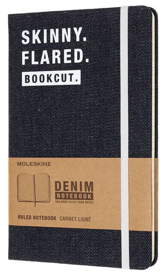 Записная книжка в линейку Moleskine DENIM NOTEBOOKS Large 130х210 мм 240 стр Skinny.