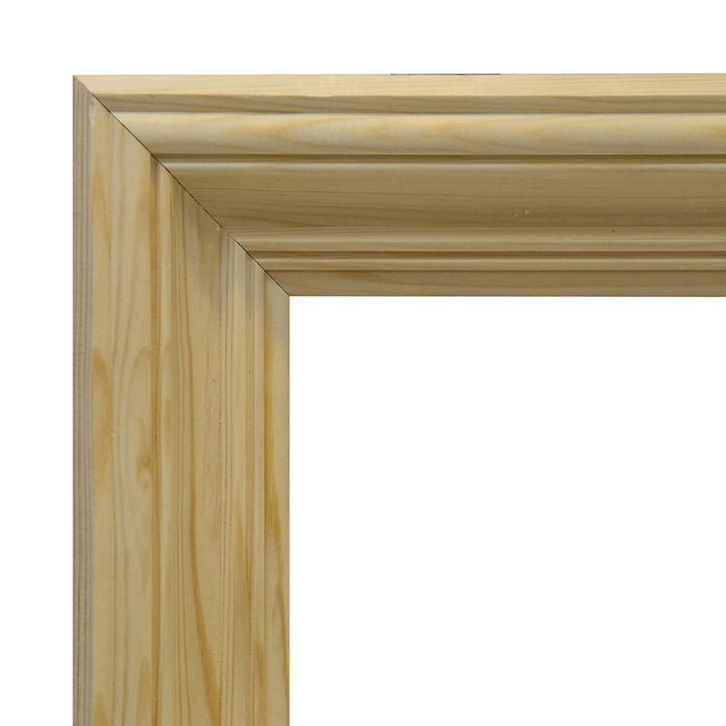 Рама 60х80 см деревянная некрашенная (ширина багета 6,2 см) фото