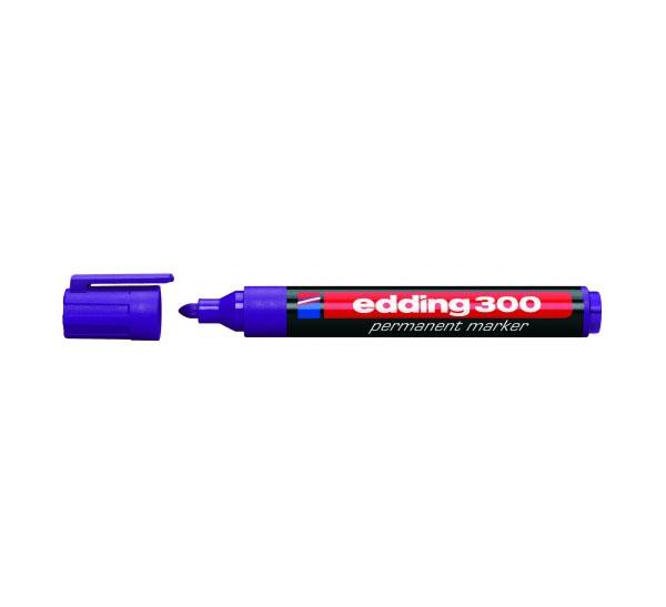 Купить Маркер перманентный Edding 300 1, 5-3 мм с круглым наконечником, фиолетовый, Германия