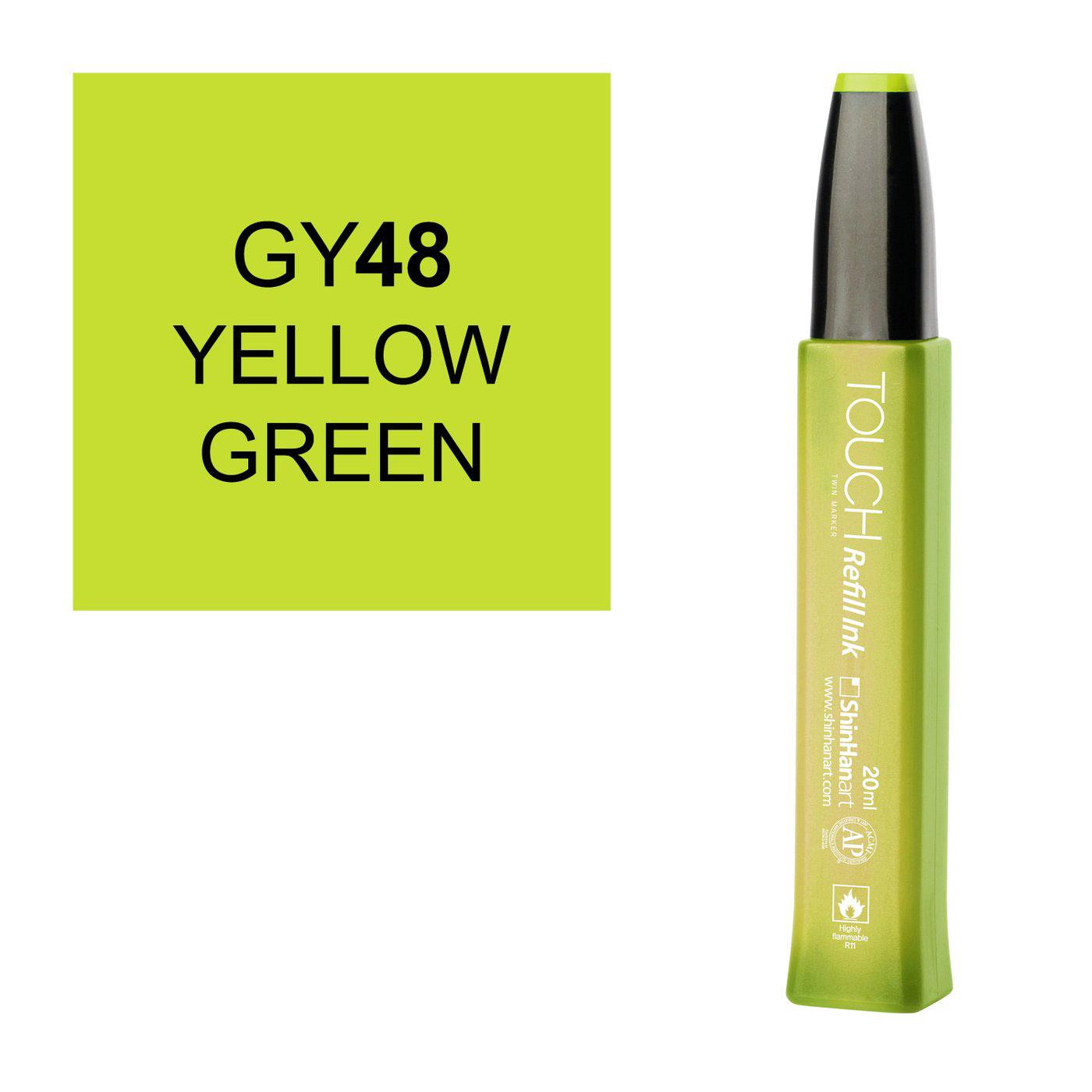 """Заправка для маркеров Touch """"Refill Ink"""" 20 мл GY48 Зелено-желтый"""