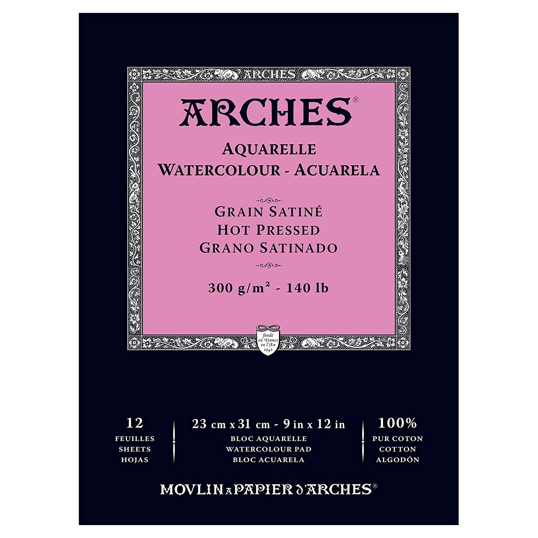 Купить Альбом-склейка для акварели Canson Arches Satin 23х31 см 12 л 300 г, Франция