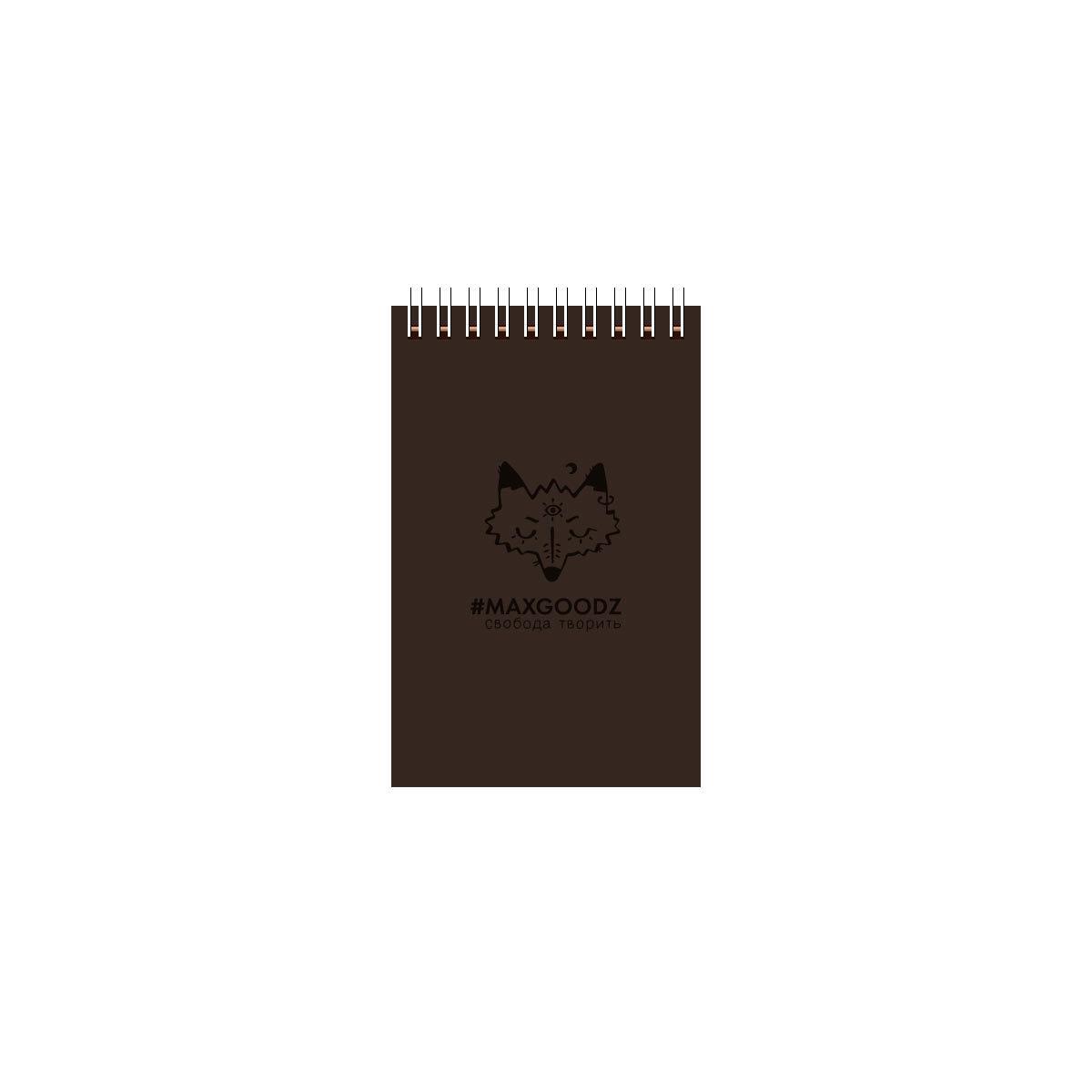 Купить Скетчбук на пружине Maxgoodz Aqua Mini А6 26 л 230 г Коричневый, Россия