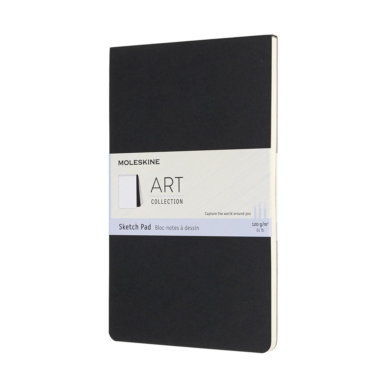 Блокнот для рисования Moleskine Art soft sketch pad Large130х210 мм 88 стр. обложка черная.