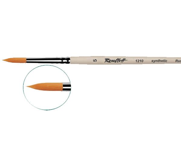 Купить Кисть синтетика №0 круглая Roubloff 1315 короткая ручка, матовая, Россия