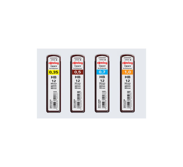 Купить Набор грифелей для механического карандаша Rotring TIKKY 12 шт 0, 3 мм, B, Германия