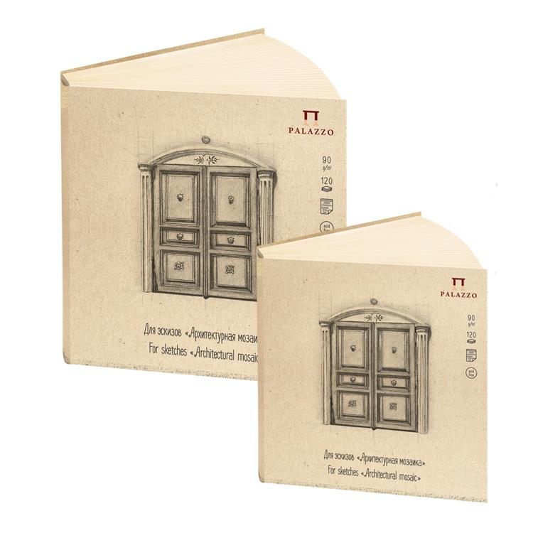 Купить Блокнот для эскизов Архитектурная мозаика 20, 7х20, 7 см 120л, Лилия Холдинг, Россия