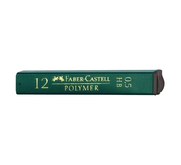 Купить Набор грифелей для механического карандаша Polymer 12 шт 0, 5 мм, 2B, Faber–Сastell, Германия