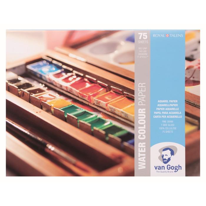 Купить Альбом-склейка для акварели Talens Van Gogh Fin 30х40 см 75 л 300 г, Royal Talens