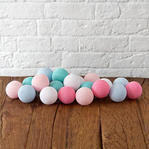 Купить Гирлянда из хлопковых шариков Lares & Penates принцесса 20, от батареек, Lares & Penates