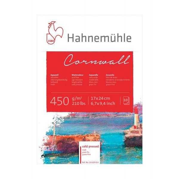 Купить Альбом-склейка для акварели Hahnemuhle Cornwall 17х24 см 450 г 10 л среднее зерно, целлюлоза 100%, HAHNEMUHLE FINEART, Германия