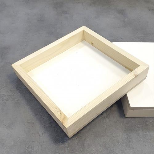 Купить Двусторонняя основа для картины на подрамнике высотой 4, 5 см 30х30 см, ResinArt, Франция