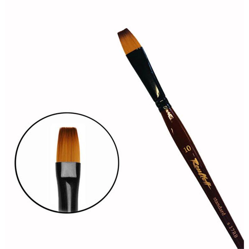 Купить Кисть синтетика №10 плоская Roubloff 17RB короткая ручка, Россия