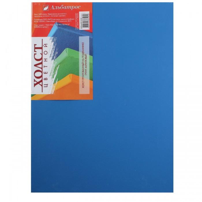 Купить Холст на подрамнике Альбатрос 30х40 см, грунт синий, хлопок 100%, Россия