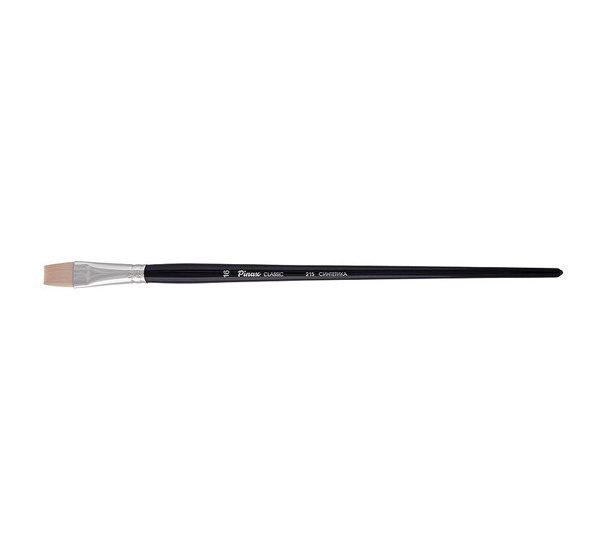 Купить Кисть синтетика №24 плоская Pinax Classic длинная ручка, Китай