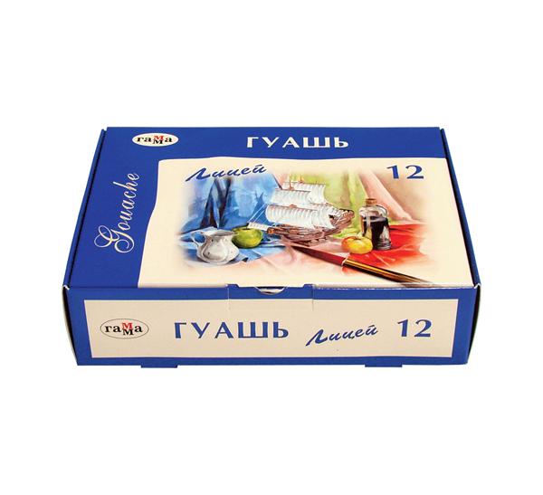 Купить Набор гуаши Гамма Лицей 12 цв*20 мл, Россия