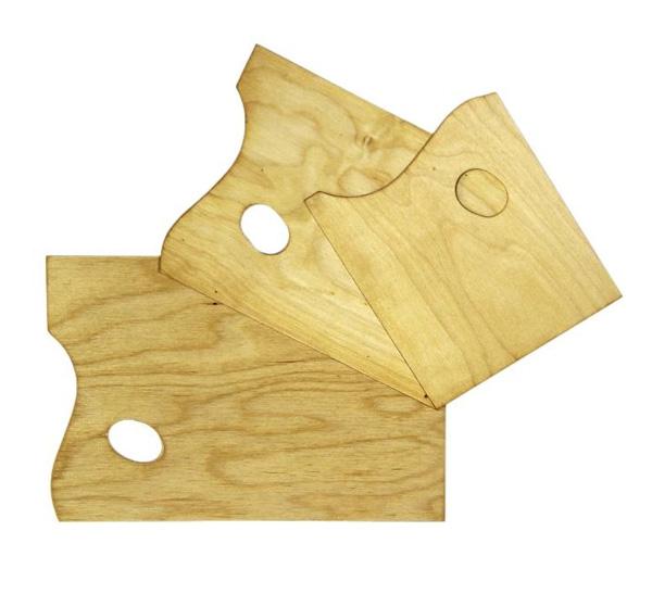 Купить Палитра деревянная прямоугольная 37х25 см, Эмти, Россия