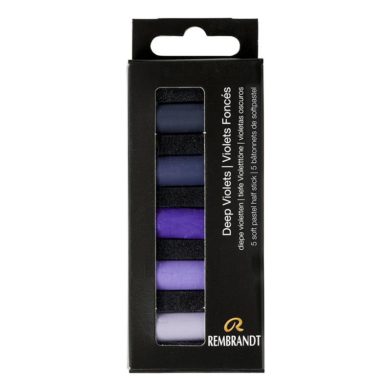 Купить Набор сухой пастели Talens Rembrandt Глубокий фиолетовый 5 цв, в картонной коробке, Royal Talens