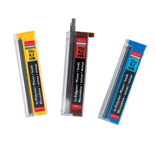 Купить Набор грифелей для механического карандаша Aristo 12 шт, 0, 3 мм HB, Австрия