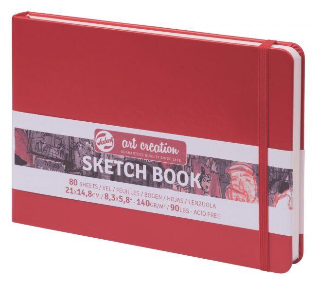 Купить Блокнот для зарисовок Art Creation Пейзаж 21х14, 8 см 80 л 140 г, твердая обложка, красный, Royal Talens