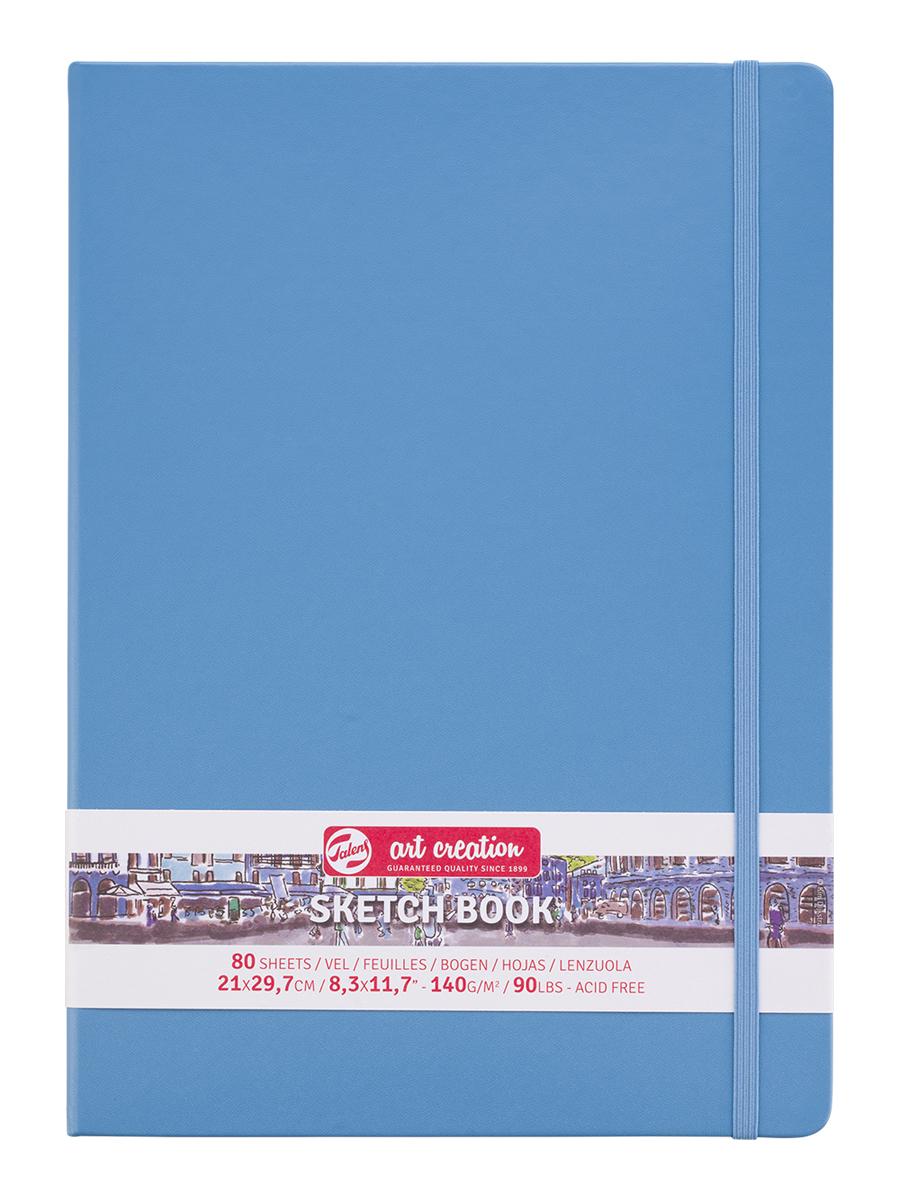 Купить Блокнот для зарисовок Art Creation 21х30 см 80 л 140 г, твердая обложка, синий, Royal Talens