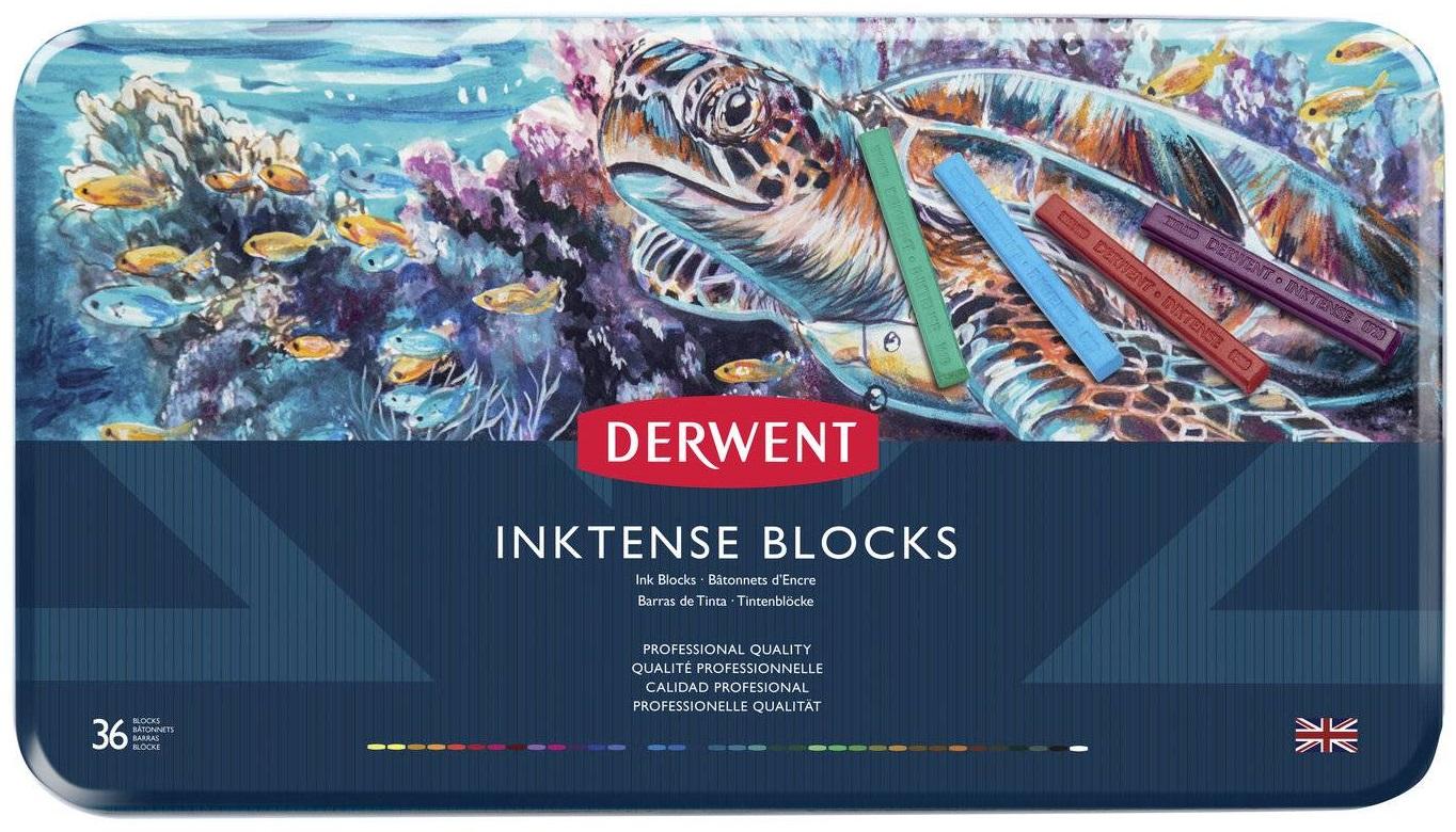 Купить Набор чернильных блоков Derwent Inktense 36 цв 75*8 мм в метал кор